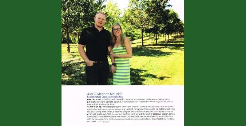 Alex McLeish, and his wife Meghan, sharing tips and tricks with Our Home Magazine, 2013